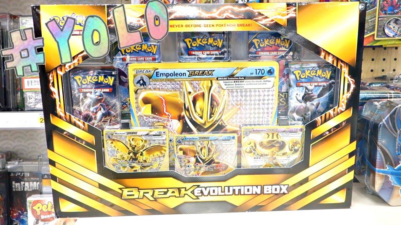 Pokemon YOLO Packs BREAK Evolution Box Opening 2016! - YouTube