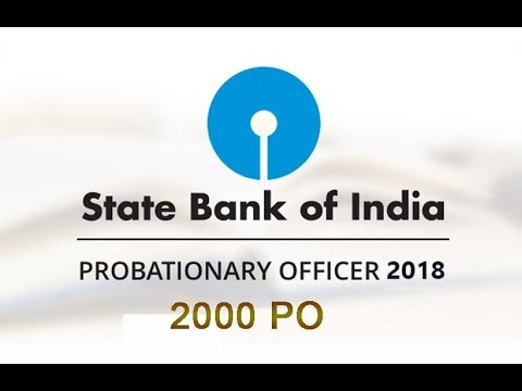 P.O. In State Bank of India 2018