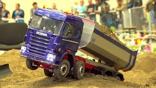 RC TRUCK STUCKING I IG M. G. T.&B. I OVERLOADED SEMITRILAER I RC TRUCK MUDDY ACTION I MAN I SCANIA