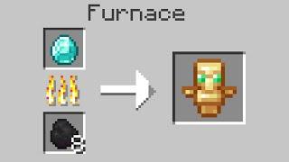 Minecraft but smelting drops random items...