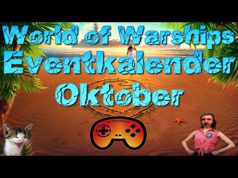 Eventkalender: Oktober - Neue Premium Schiffe 😱 - World of Warships - Deutsch/German Gameplay Ideen