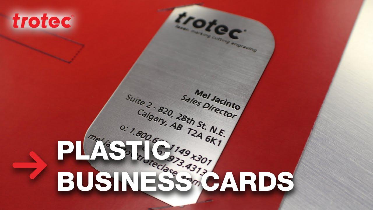 Plastic Business Cards Trolase Thins Econoflex Youtube