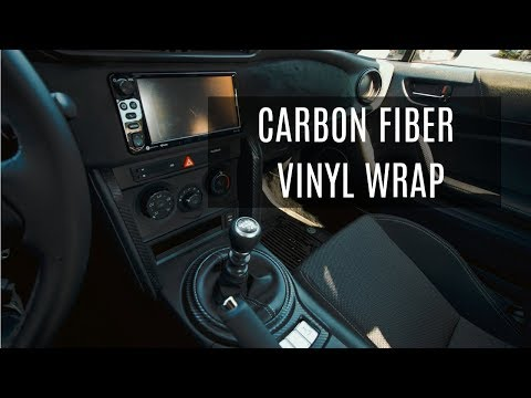 VINYL WRAPPING THE INTERIOR OF MY TOYOTA 86! (CARBON FIBER)