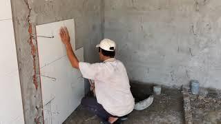 Dán gạch tường