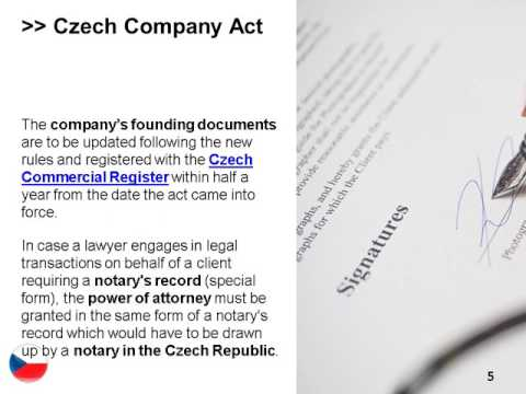 Company Act in the Czech Republic