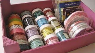 Diy Caja Reciclada Para Materiales De Manualidades. / Recycled Craft Box.