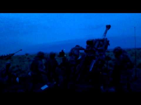 M777 Howitzer fire mission with M1156 PGK fuze