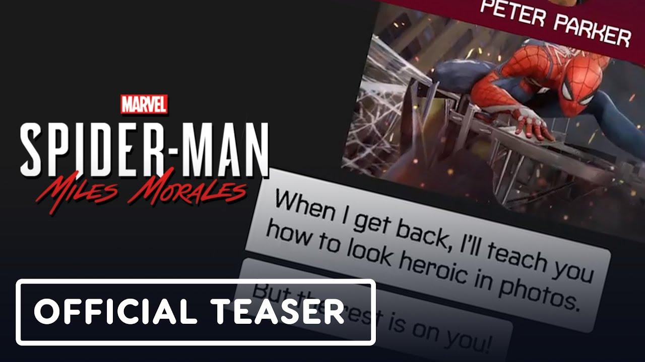 Marvel's Spider-Man: Miles Morales - Peter & Miles Texting Teaser Trailer