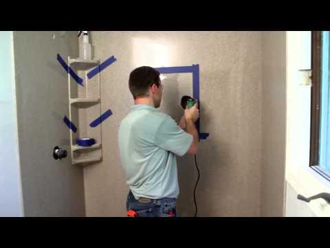 Onyx Shower Installation - Inset Caddy