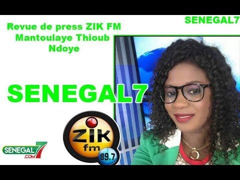 Revue de Presse (Wolof) Zik fm du Samedi 26 Octobre 2019 Par Mantoulaye