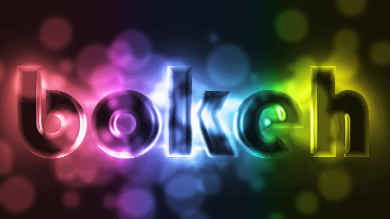 Abstract bokeh photoshop text effect tutorials youtube baditri Images