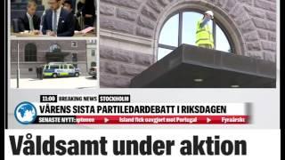 """Våldsam aktion vid Rosenbad"""