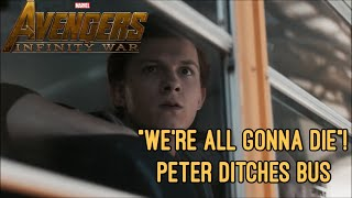 We're All Gonna Die! 'School Bus' (Scene) | Avengers : Infinity War - [2018] HD CLIP