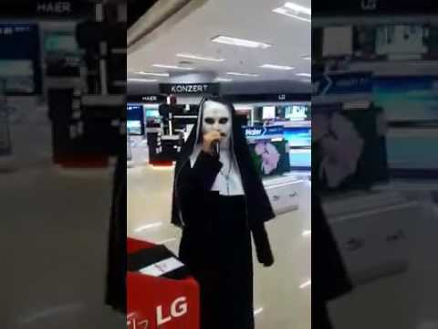 Valak terrorizing people with her singing prowess