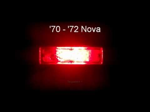 1970 1972 Nova Led Sequential Tail Lights By Easy