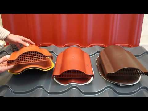 видео: Кровельная вентиляция в металлочерепице. kronoplast.