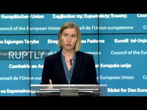 Belgium: Mogherini reconfirms EU's position of a two-state solution for Israel-Palestine