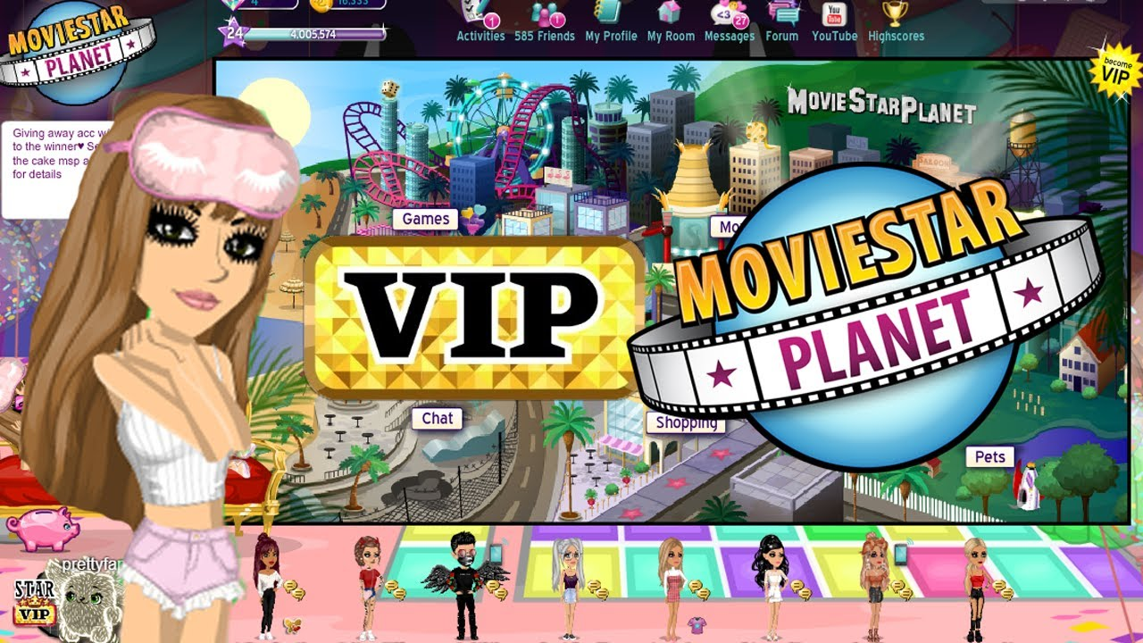 MSP Account Giveaway (FREE VIP to winner) 2019 Movie Star Planet