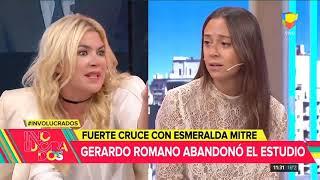 Fuerte cruce con Esmeralda Mitre: Gerardo Romano abandonó el estudio