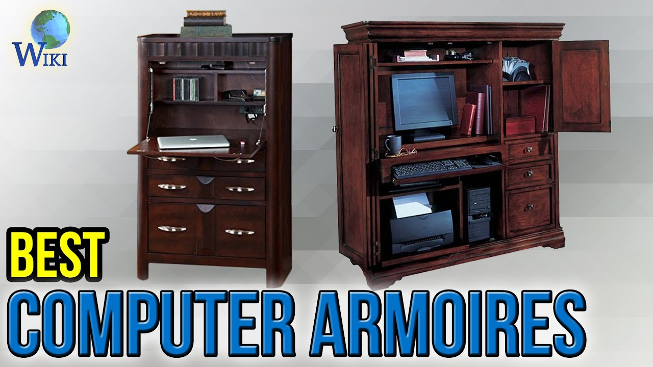 6 Best Computer Armoires 2017  Youtube