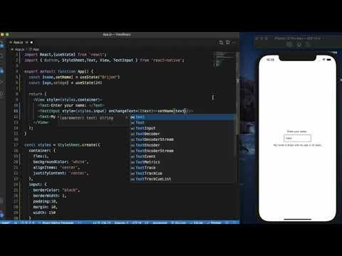 React Native Tutorial  - TextInput