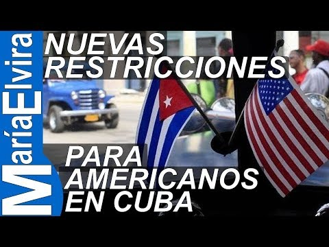 Nuevas restricciones para americanos en Cuba