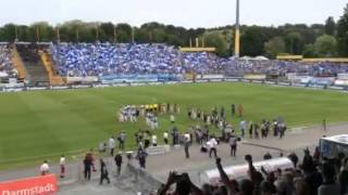 SV Darmstadt 98 vs. FC St. Pauli: Grandiose Stimmung beim Einlauf