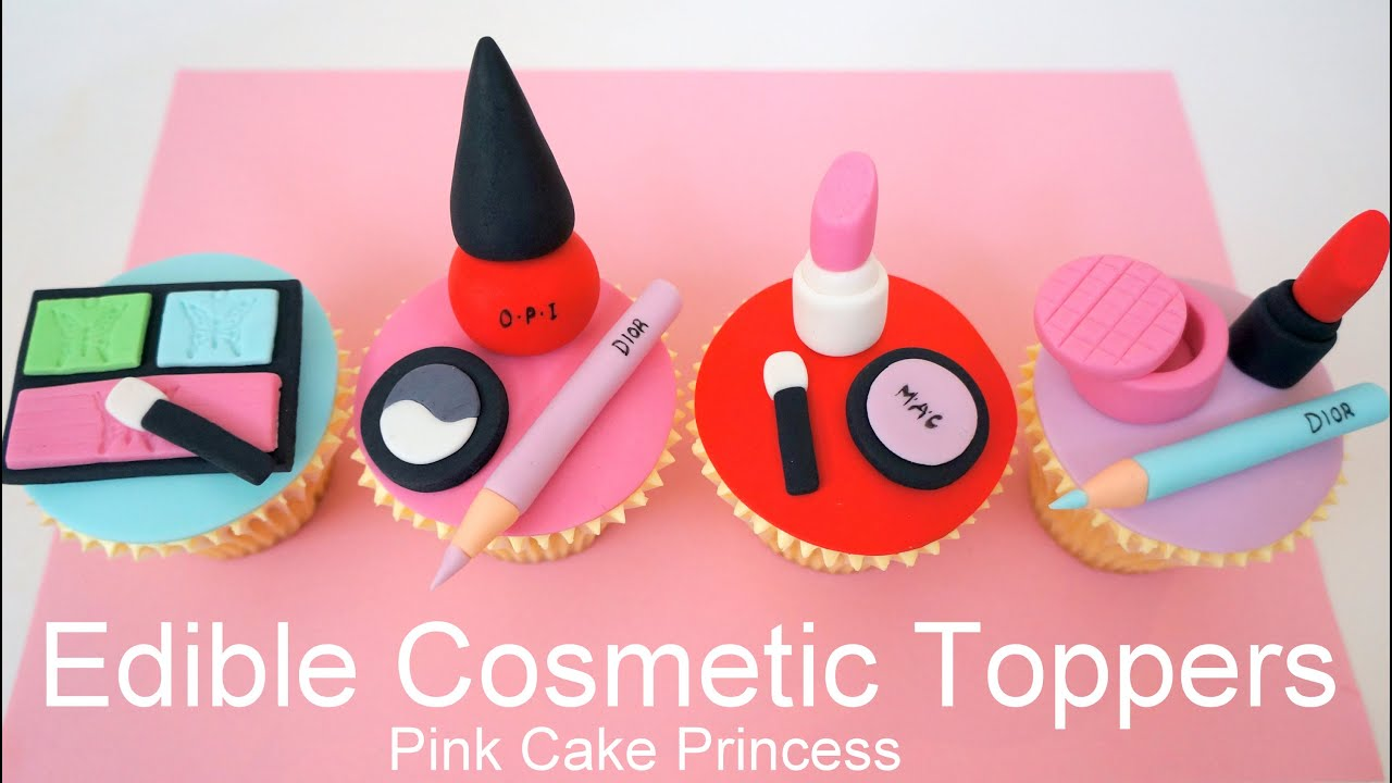 Make Edible Cake Pictures : Edible Makeup Cake Toppers - How to Make Cosmetics Cake ...