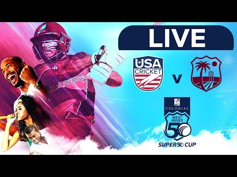 🔴LIVE USA Vs West Indies Emerging Players   Colonial Medical Insurance Super50 Cup
