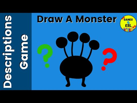 ESL Description Game | Draw A Monster