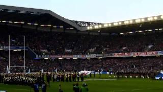Scotland vs Wales National Anthems 12/02/2011