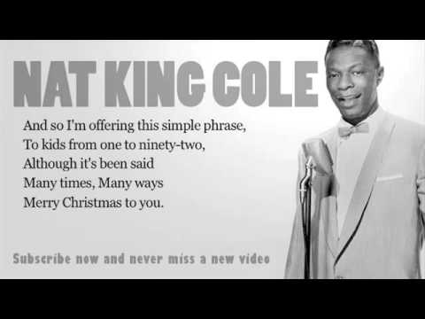 nat king cole the christmas song lyrics official - YouTube