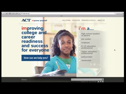 How to register for the ACT test