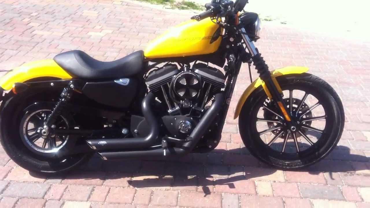 Harley Davidson 883 Iron Chrome Yellow - YouTube