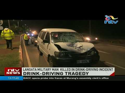 Tragedy as Lang'ata military officer killed in drink-driving incident