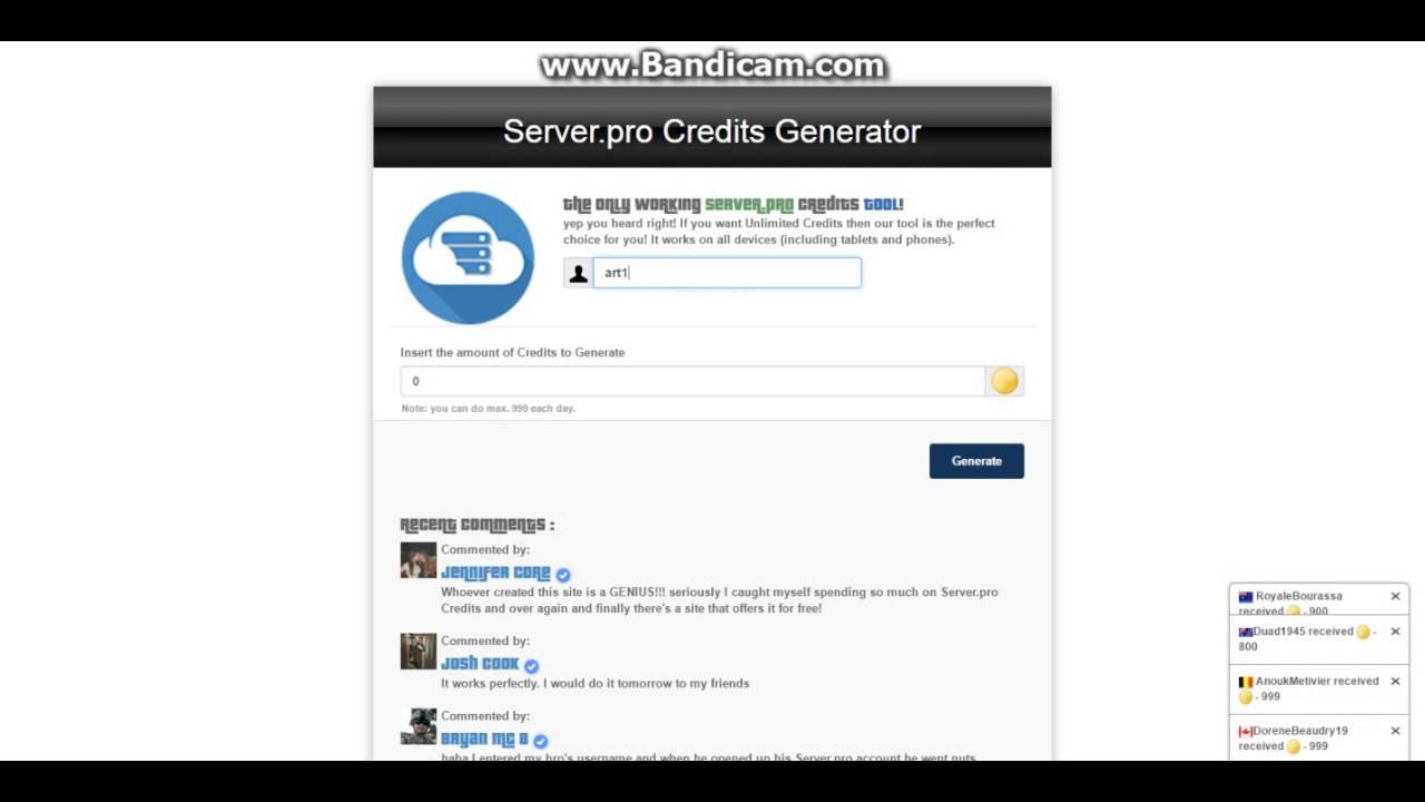 serverpro credits generator no survey