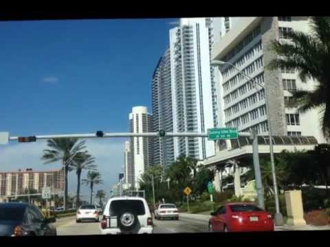 Sunny Isles Beach, Florida - drive on Collins Ave.wmv