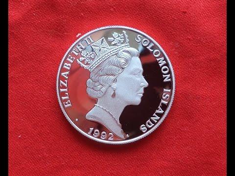 10 долларов 1992 Соломоновы Острова (Серебро)10 DOLLARS 1992 - SOLOMON ISLANDS Нумизматика