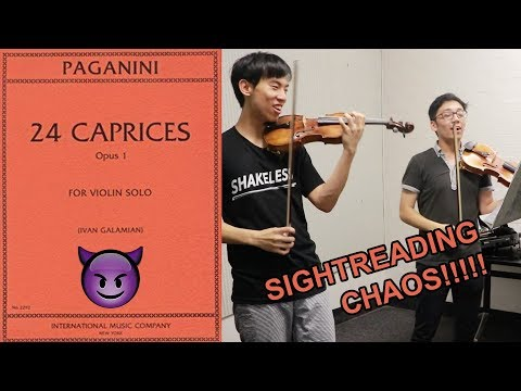 Sight Reading all Paganini caprices (part 2)
