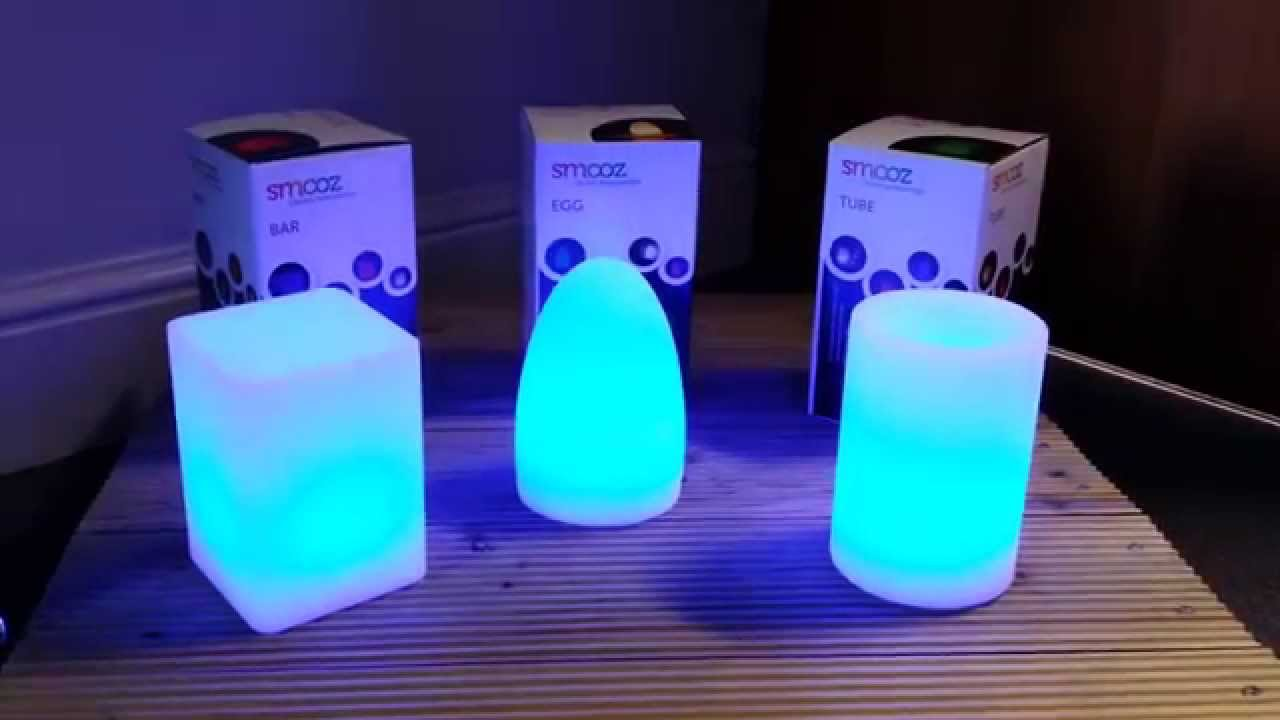 Nice Led Table Lights Part - 8: Smooz Rechargeable LED Colour Changing Table Lights - YouTube