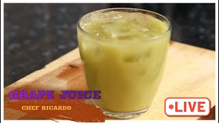 100% Green grape juice with ginger lemon serve with ice| Chef Ricardo Cooking