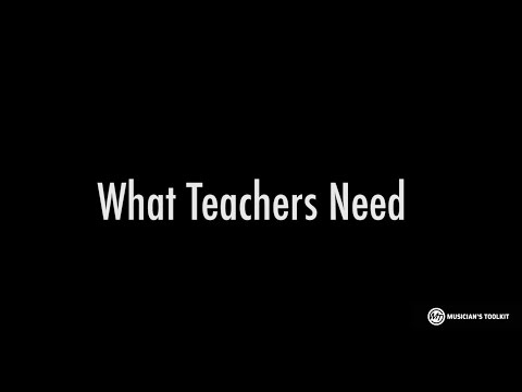 Music Teachers Need More Tools (Professor Gary Hill)