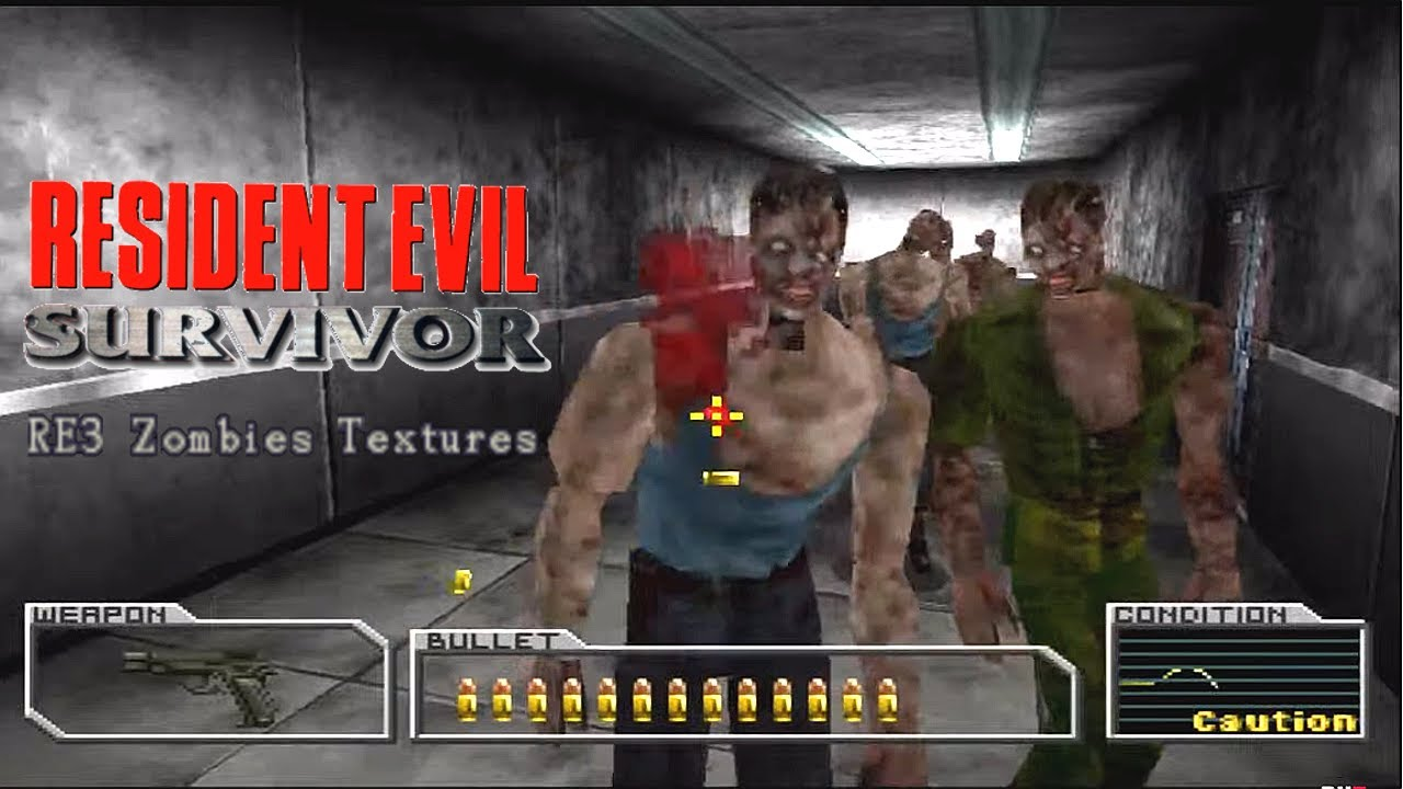 Resident Evil Survivor - TEXTURE MOD - PUBLIC DOWNLOAD [ PLAYSTATION MOD ]