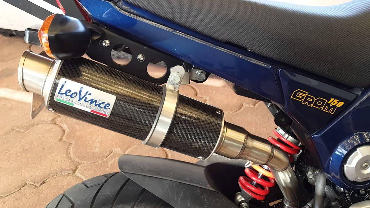 Leo Vince exhaust on 235cc FinBro for Honda Grom