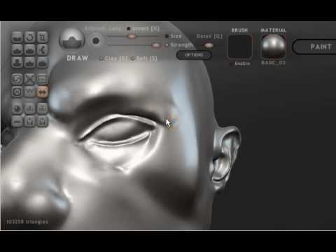 Head modelling in Sculptris