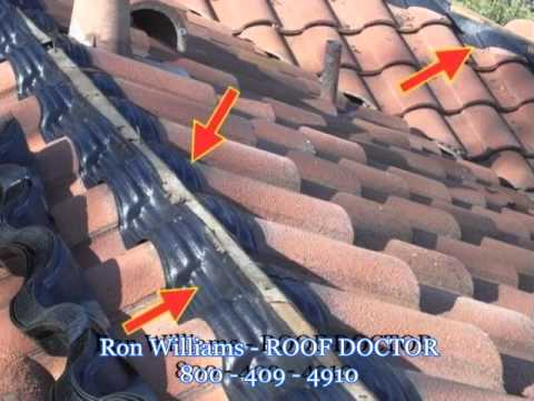 Tile Roof Repair And Roof Maintenance YouTube - Clay tile roof maintenance