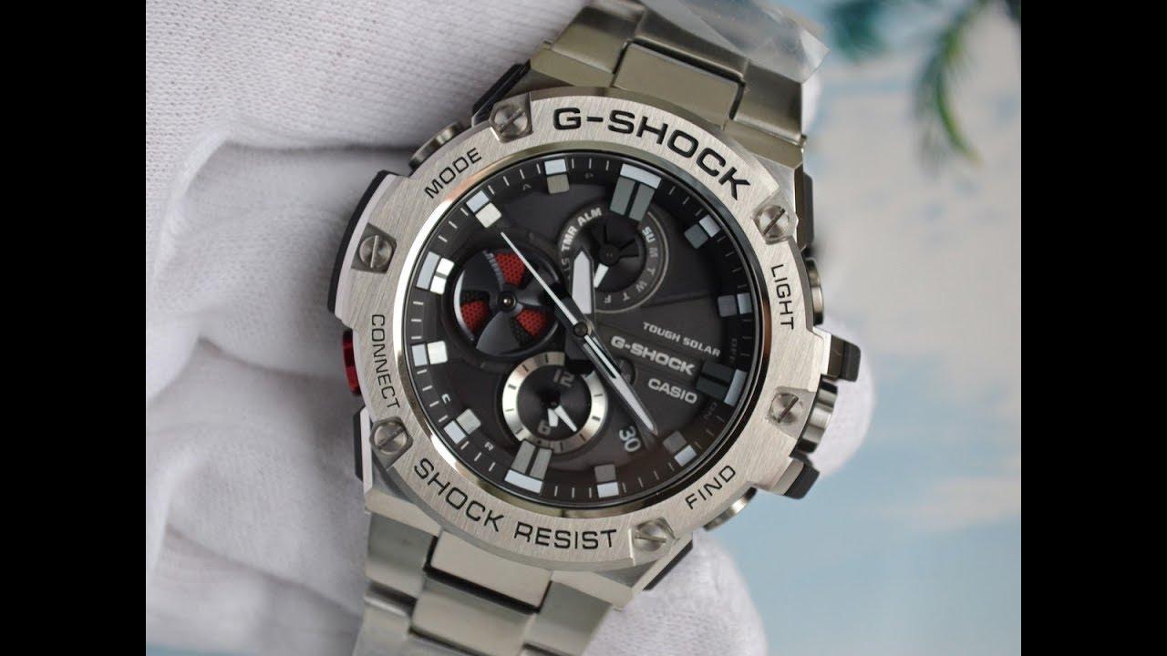 ceb22a47de8daf CASIO G-SHOCK G-STEEL Bluetooth GST-B100D-1A - YouTube