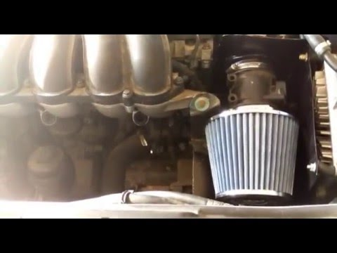 Volvo S40 cone filter install  Before & After