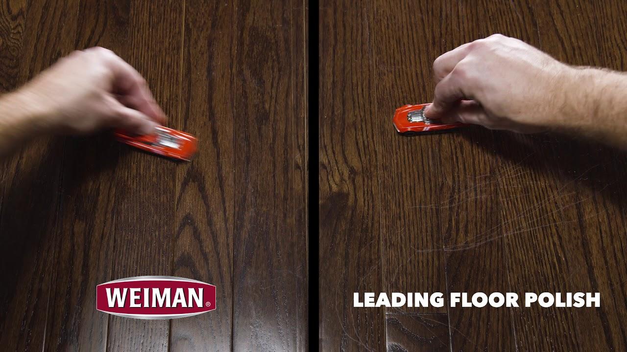 Weiman Hardwood Floor Polish Fades and Prevents Scratches