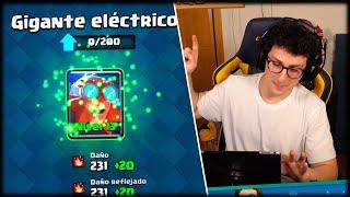 SUBO EL GIGANTE ELECTRICO AL NIVEL MÁXIMO Y ESTOY OP - Clash Royale - WithZack
